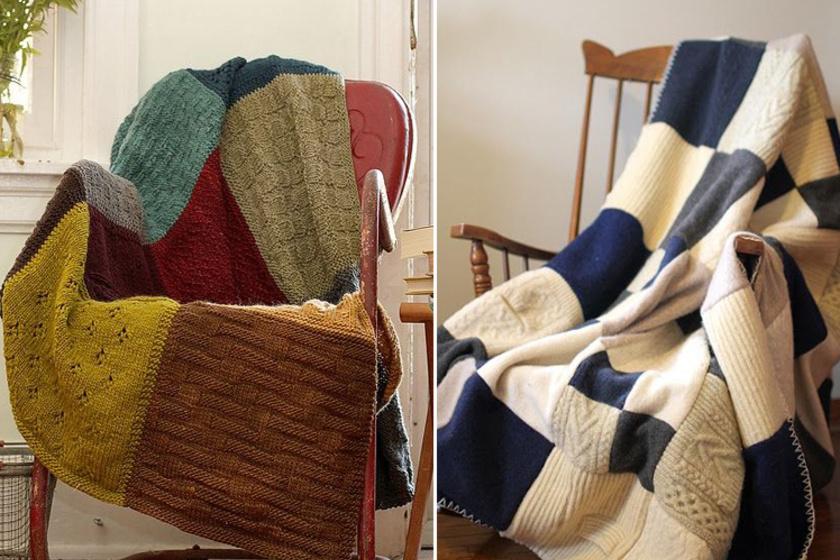A takaró elkészítéséhez több pulóverre is szükséged lesz, melyeket négyzet alakúra kell vágnod.