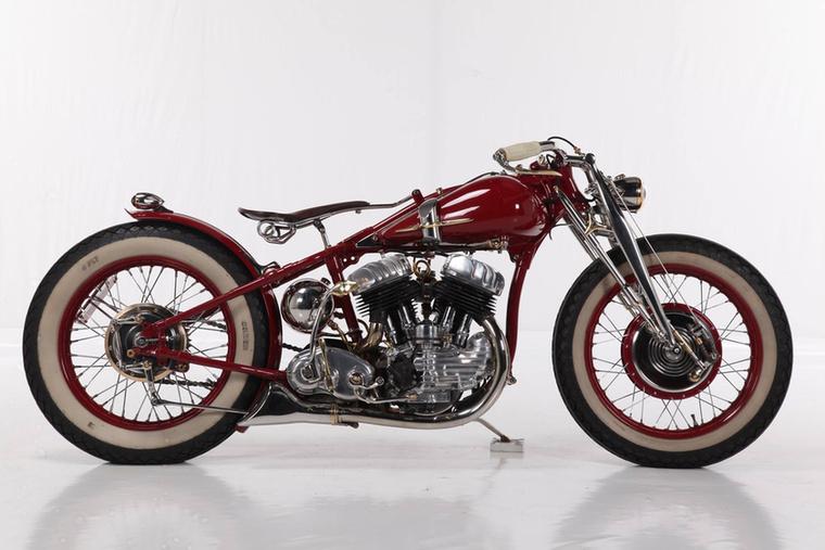 A Retro Modified kategória győztese az olasz VM Cycles ezzel az 1942 WLA SV 750-nel