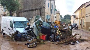 Kilencen meghaltak, és sokan eltűntek Mallorcán az áradások miatt