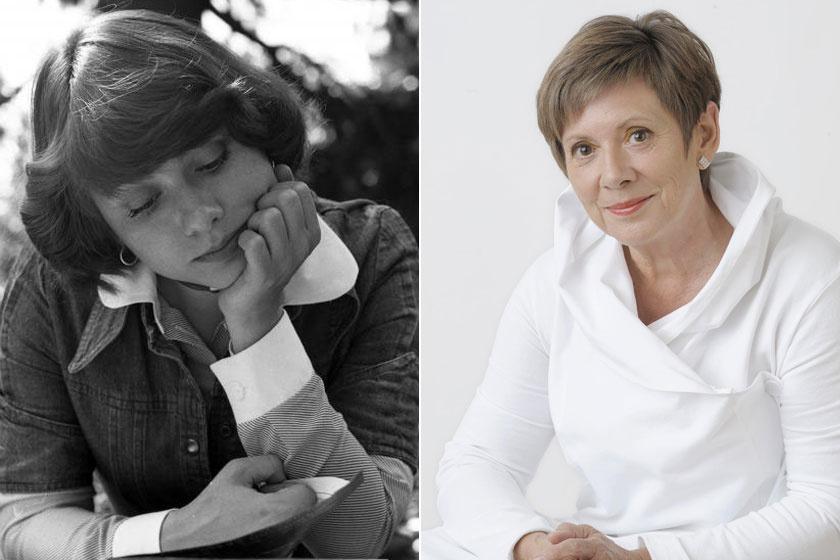 Katona Klári 1976-ban, 23 évesen és napjainkban.
