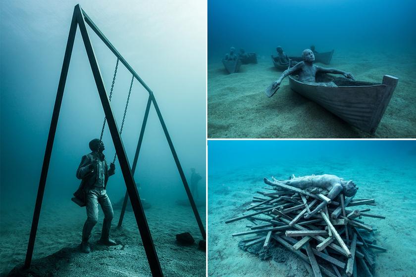 Ott vannak a szobrok, ahol senki sem várná: szürreális világba visz a víz alatti múzeum