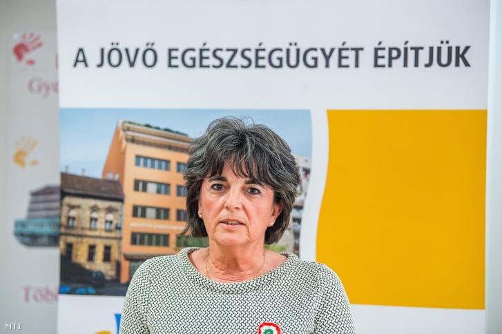 Nagy Anikó a budapesti Heim Pál Gyermekkórházban 2018. március 14-én.