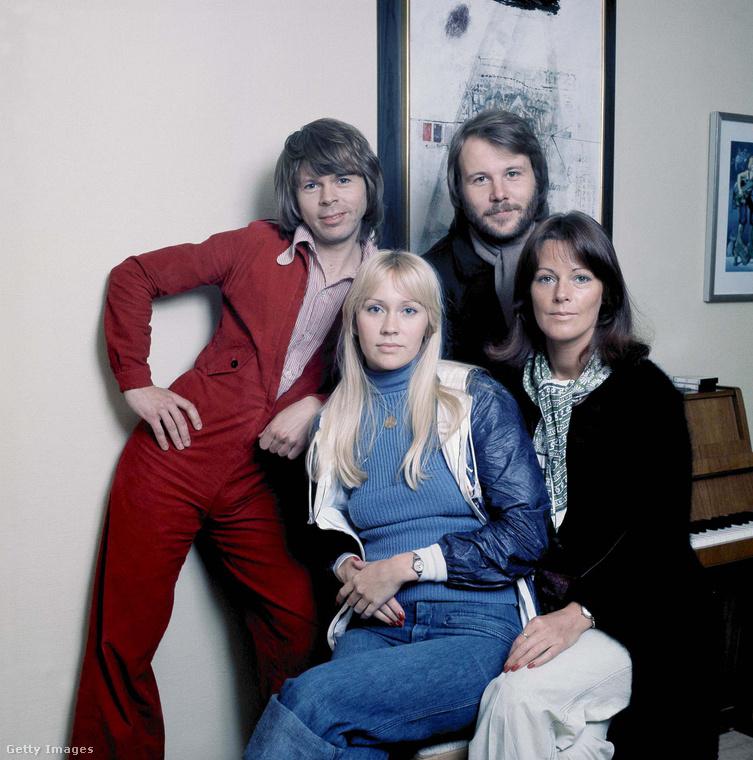 Ez a kép 1976-ban készült az ABBA együttesről, ekkor adták ki egyik legnagyobb slágerüket, a Dancing Queent