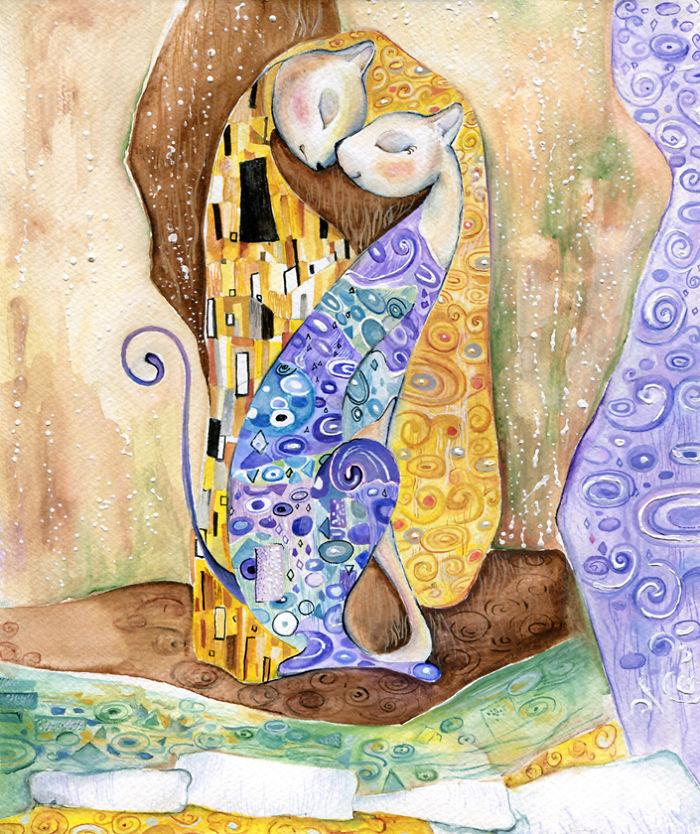 Inspirálta: Gustav Klimt osztrák festőművész, a szecessziós stílus képviselője.