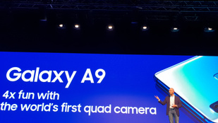 Középkategóriás telefonként kapott 4 hátsó kamerát az új Samsung A9