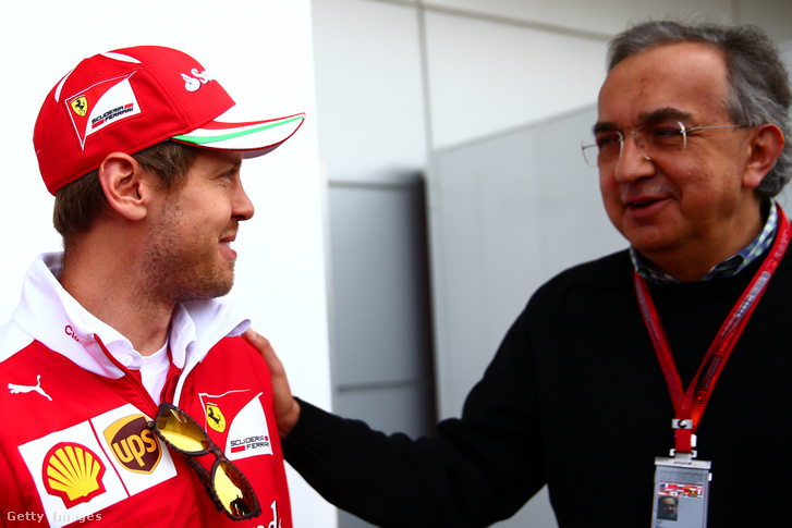 Sebastian Vettel és Sergio Marchionne (2016)