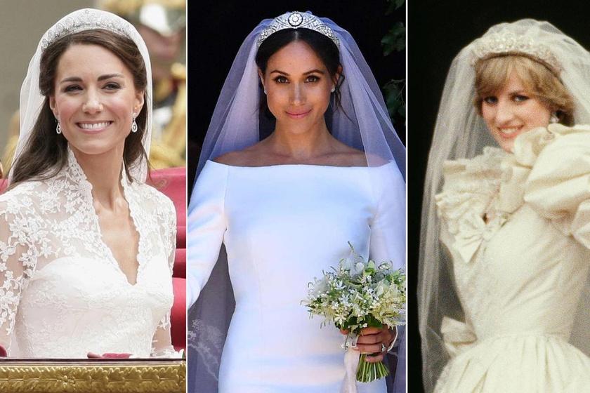 Ez volt a királyi esküvők eddigi legszebb menyasszonyi ruhája - Erre szavaztak legtöbben