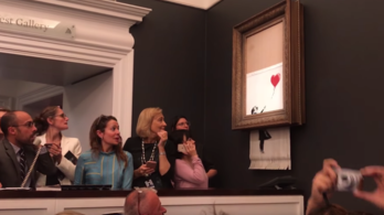 Jelentkeztek Banksy önmegsemmisítő alkotásáért