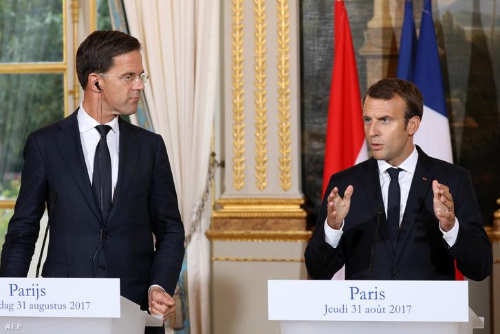 Mark Rutte és Macron