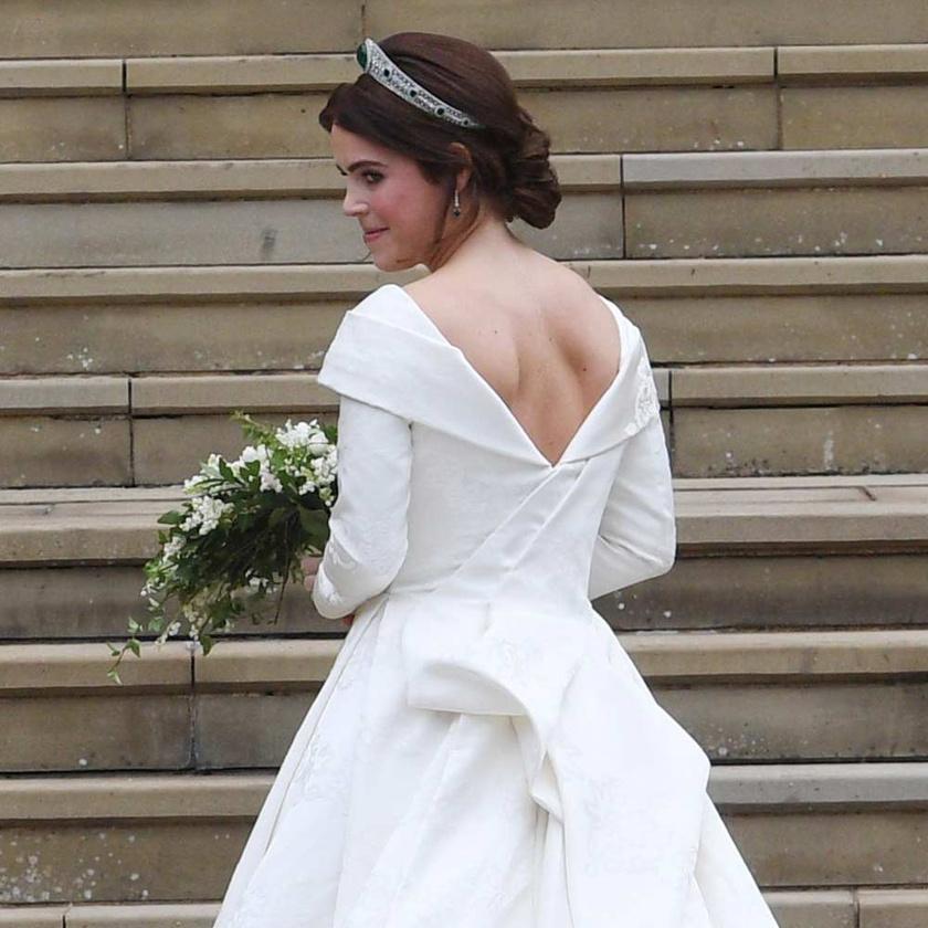 Eugénia hercegnő gyönyörű volt az esküvői ruhájában.
