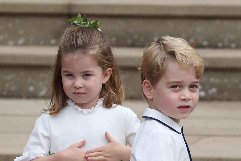 Charlotte hercegnő ellopta a show-t Eugénia esküvőjén - Ilyen cuki virágszóró lány volt