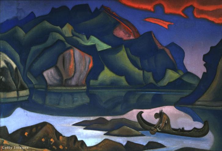 Rejtett kincs - Nicholas Roerich egyik festménye