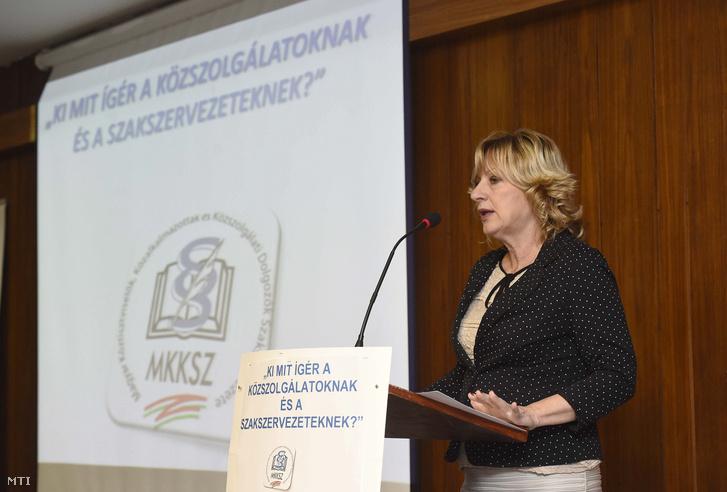 Boros Péterné, az MKKSZ elnöke 2017. október 28-án.