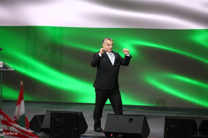Orbán Viktor 2017. október 23-án a Terror Házánál tartott megemlékezésen