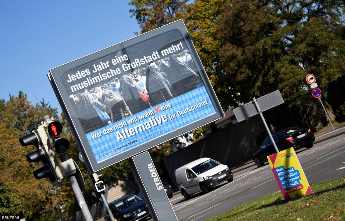 Az AfD plakátja Ingolstadtban