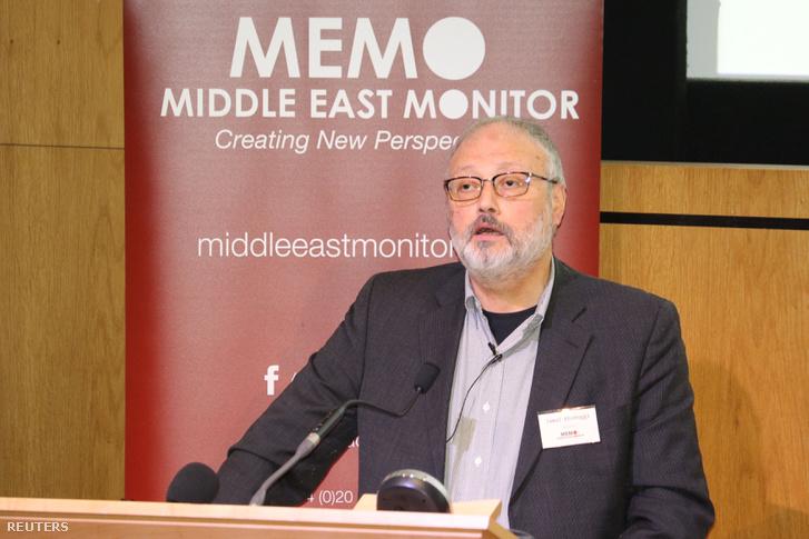 Dzsamál Hasogdzsi 2018. szeptember 29-én egy londoni konferencián