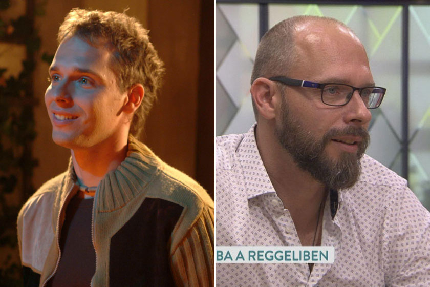 Novák Csaba megformálója sokat változott. Kőváry Tamás ma már 40 éves, két kislánya van, Jázmin tíz-, Dia hétéves.