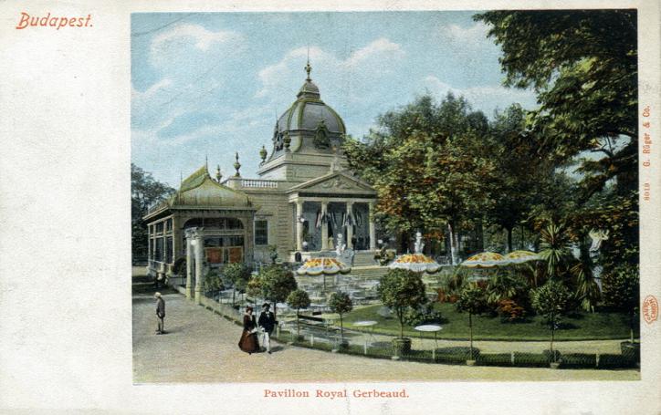 1896-ban a Városligetben megnyílik a Gerbeaud Pavillon, mint kerthelyiséges vendéglő.
