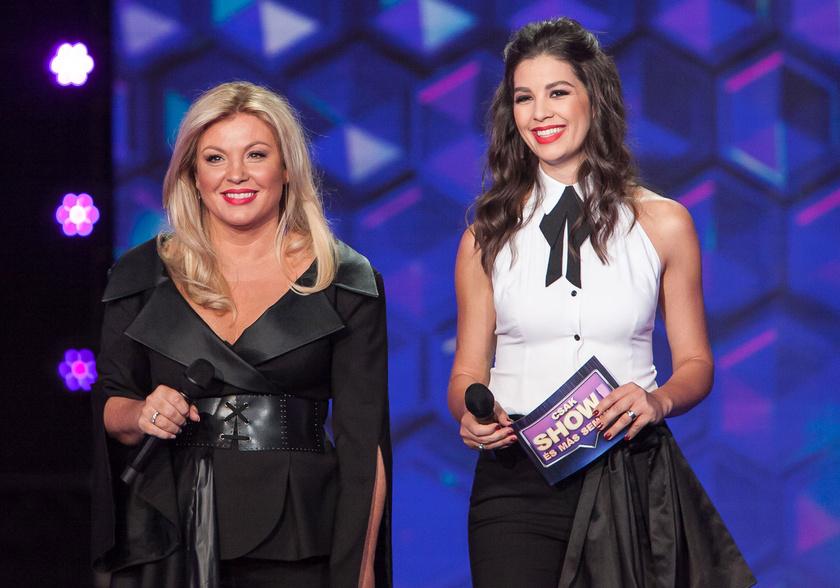 Liptai Claudia talpig feketét, Ördög Nóra fekete-fehéret viselt a Csak show és más semmi első adásában.