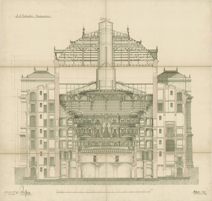 Ybl egyik terve az Operaházra, a Kiscelli Múzeum kiállításáról