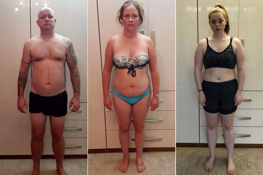 Családi fogyókúra látványos fotókon: előtte-utána képeken mutatták meg az eredményt