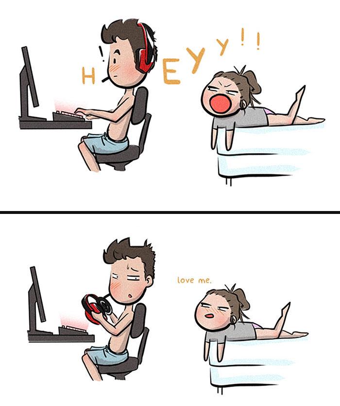- Hééééé!!! Szeress engem!