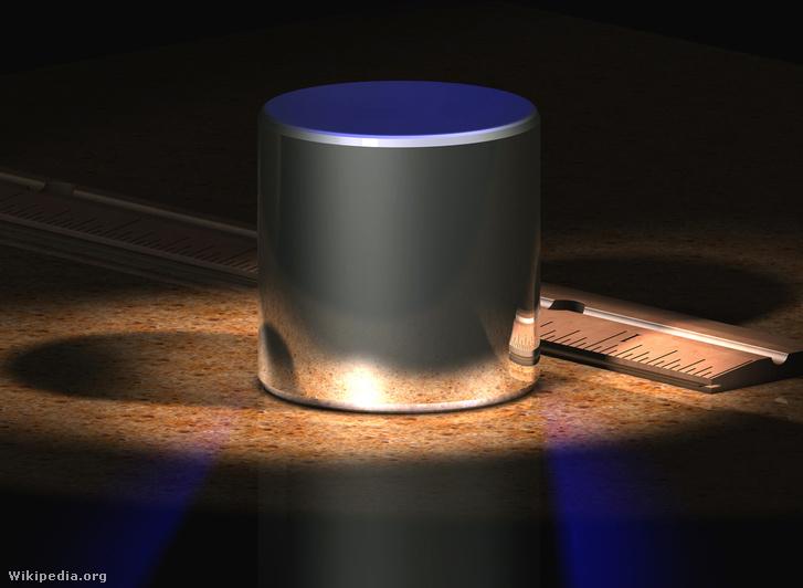 A kilogramm etalonjának számítógépes képmása