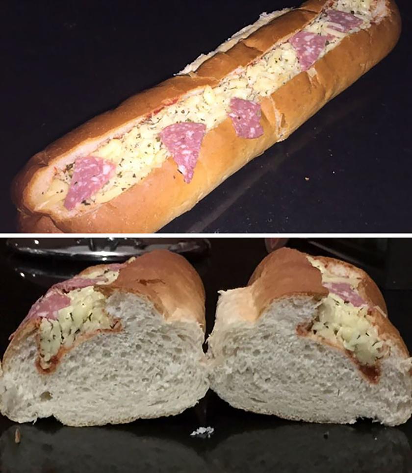 Ilyen aljas átverésre ritkán látni példát. Ennek az előrecsomagolt szendvicsnek a gyártói különösen gonosz embereknek tűnnek.