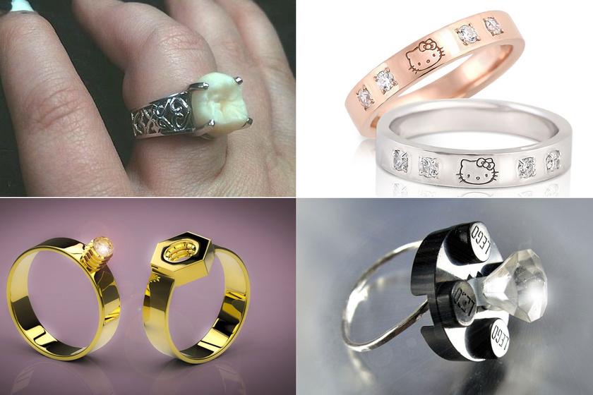 Gyémánt helyett bölcsességfog: ezek a világ legfurább eljegyzési gyűrűi