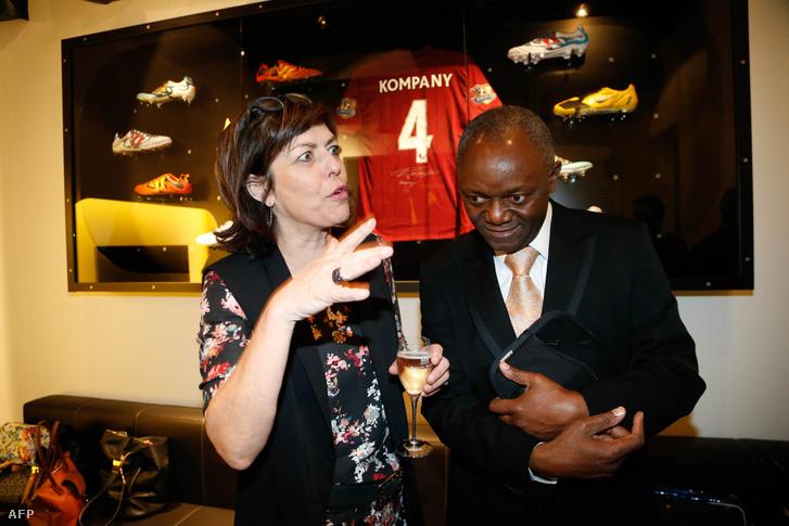 Pierre Kompany a belga belügyminiszterrel, Joelle Milquet-vel 2014-ben