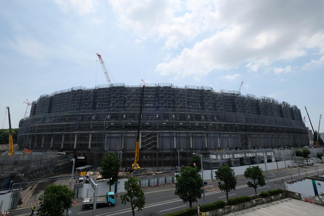 A Nemzeti Olimpiai Stadion, amely az egyik helyszíne lesz a megnyitó ceremóniának a 2020-as Tokióban megrendezésre kerülő olimpián.