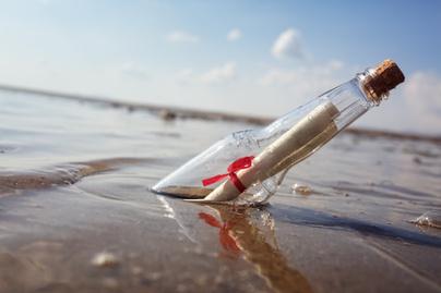 palackposta üveg üzenet
