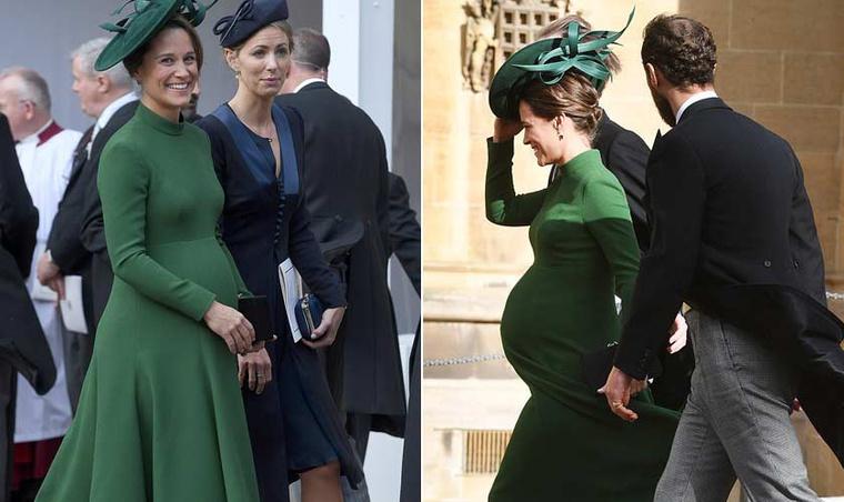 Pippa Middleton Eugénia hercegnő esküvőjén.