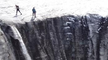 Drámaian zsugorodnak a svájci gleccserek