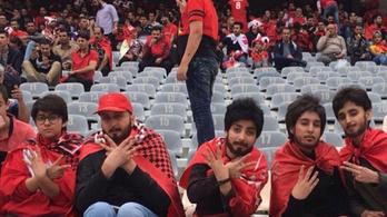 Végre nem kell álbajusz a fociért rajongó iráni nőknek