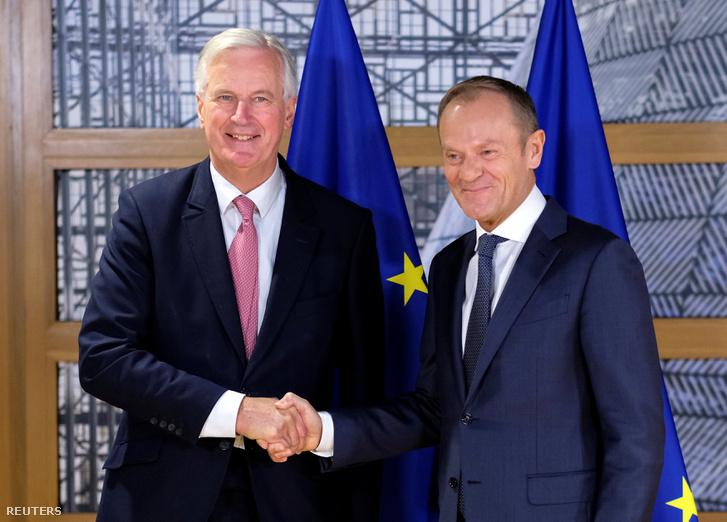 Michel Barnier és Donald Tusk
