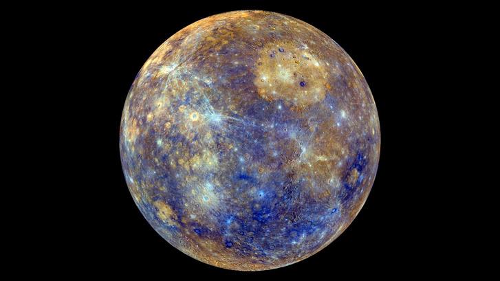 A Merkúr a NASA Messenger űrszondájának felvételén
