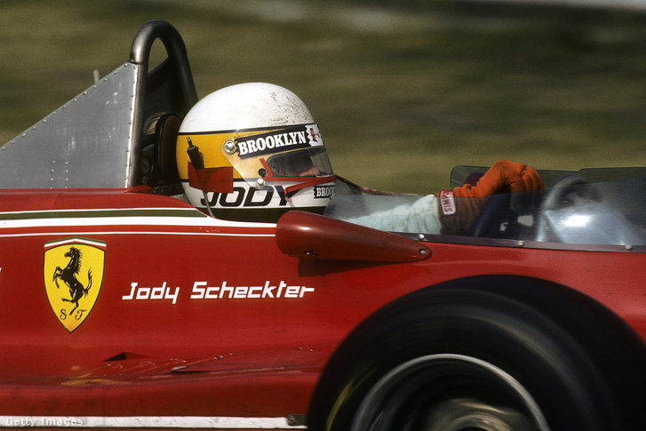 Jody Scheckter a Ferrari 312T4-ban, az 1979. szeptember 9-i Olasz Nagydíjon, Monzában