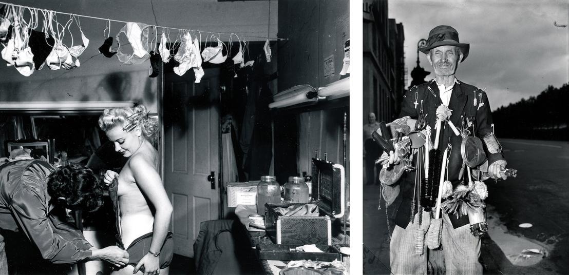 """Bal: """"Santana tangában"""", 1950 - Jobb: A két lábon járó áruház, dátum nélkül"""