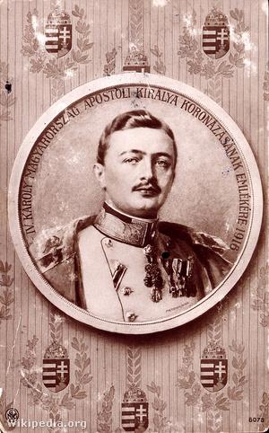 IV Karoly király 1916 Budapest Koronazasi emlek kepeslap