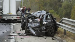 Öt autó és egy kamion ütközött az M0-son