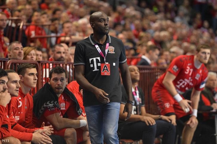 David Davis a férfi kézilabda NB I Telekom Veszprém - MOL-Pick Szeged mérkőzésen