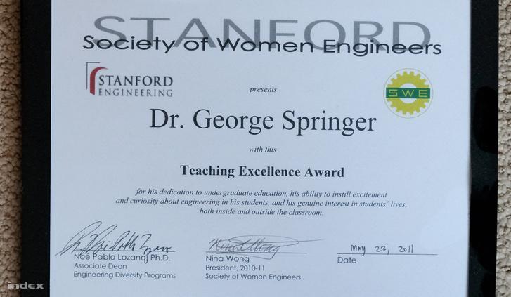 Stanford-díj a kiemelkedő professzori munkáért