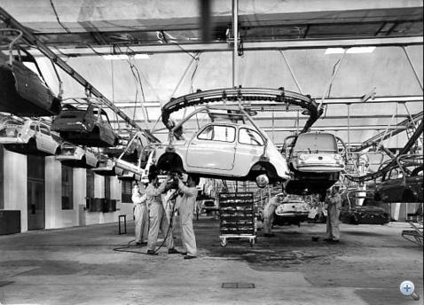 Puch-gyár, ötvenes évek vége