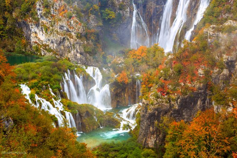 A Plitvicei-tavakat nem csak a nyári hőségben érdemes meglátogatni, a táj ilyenkor teljesen más arcát mutatja