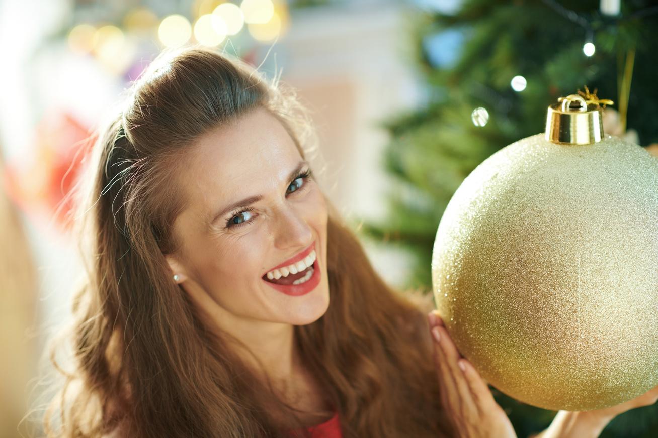 nagy dísz nő karácsony