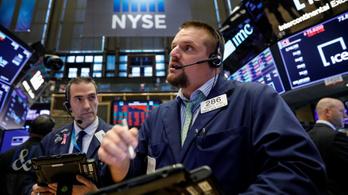 Pánikszerű eladási hullám az amerikai tőzsdéken