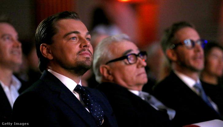 Leonardo DiCaprio és Martin Scorsese a Cinema Vanguard Awardon 2014. február 6-án, Santa Barbara, Kaliforniában