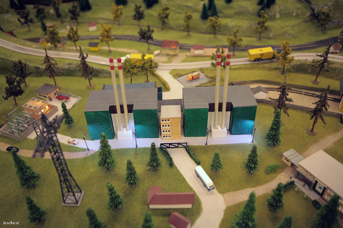 A Paksi Atomerőmű makettje a létesítmény látogatóközpontjában