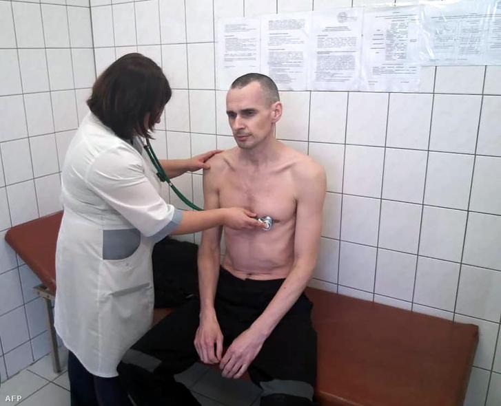Szencov az orosz hatóságok által kiadott képen 2018 szeptemberében